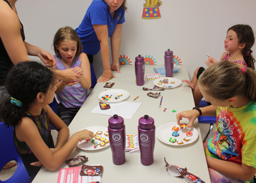 Camp Kids Having FUN with Crafts at Head Over Heels